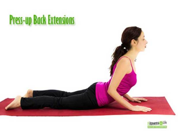 Press-up Back Extensions for neck pain