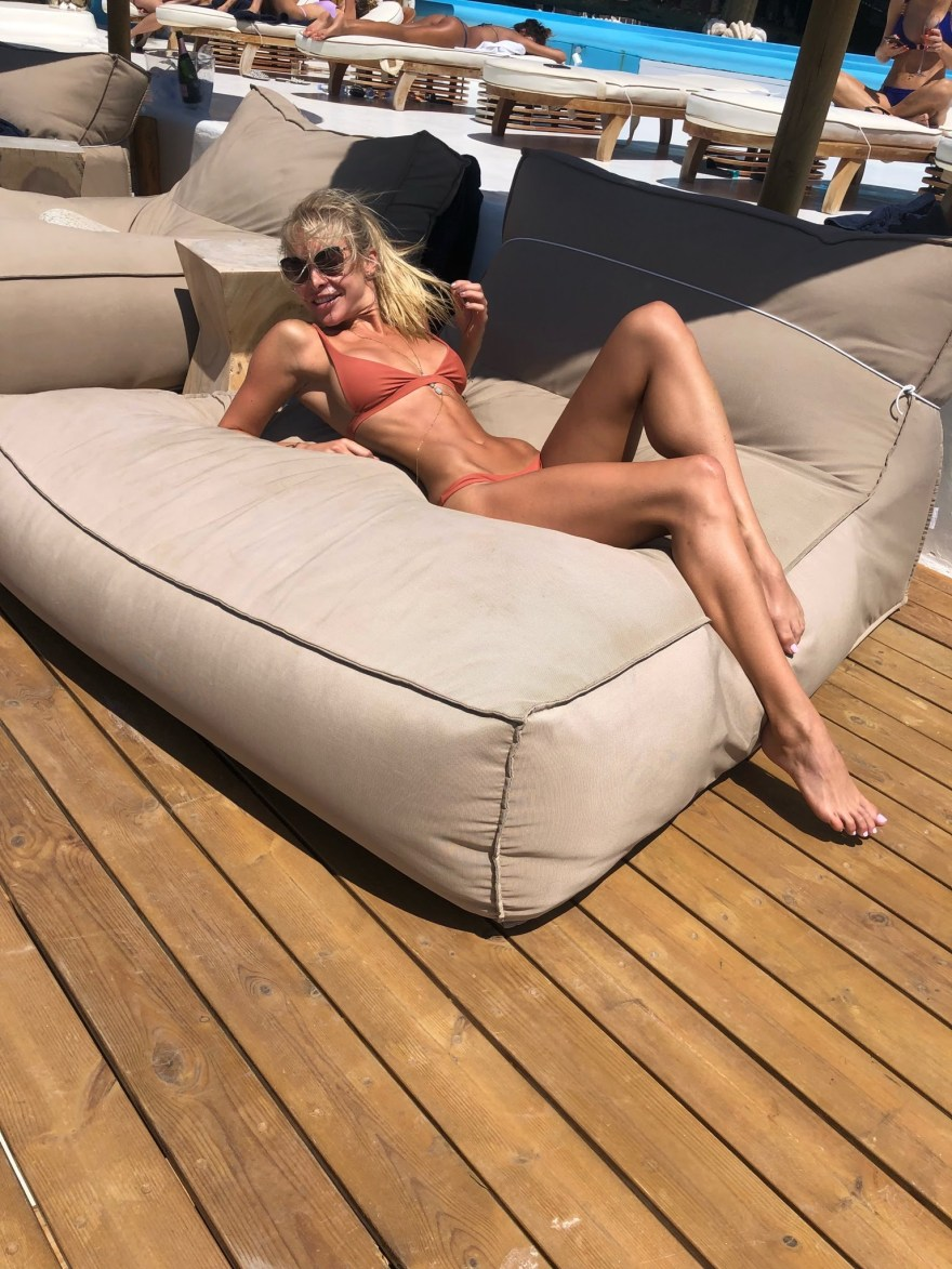 Savannah Lyn in Orange Bikini
