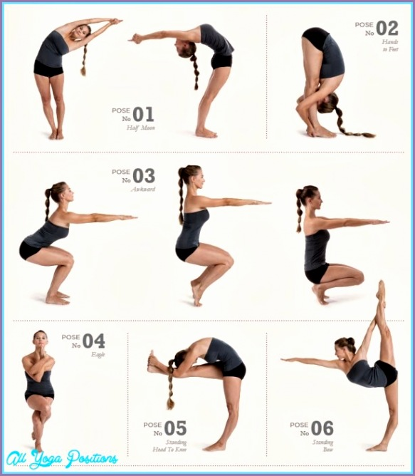6 Bikram Yoga Poses Chart Work Out Picture Media