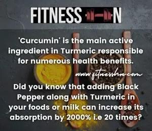 Turmeric and Black Pepper Benefits- Fitness HN