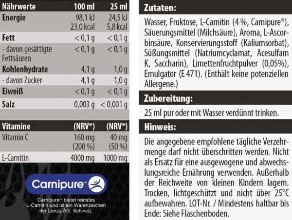Pure L-carnitin Liquid 2