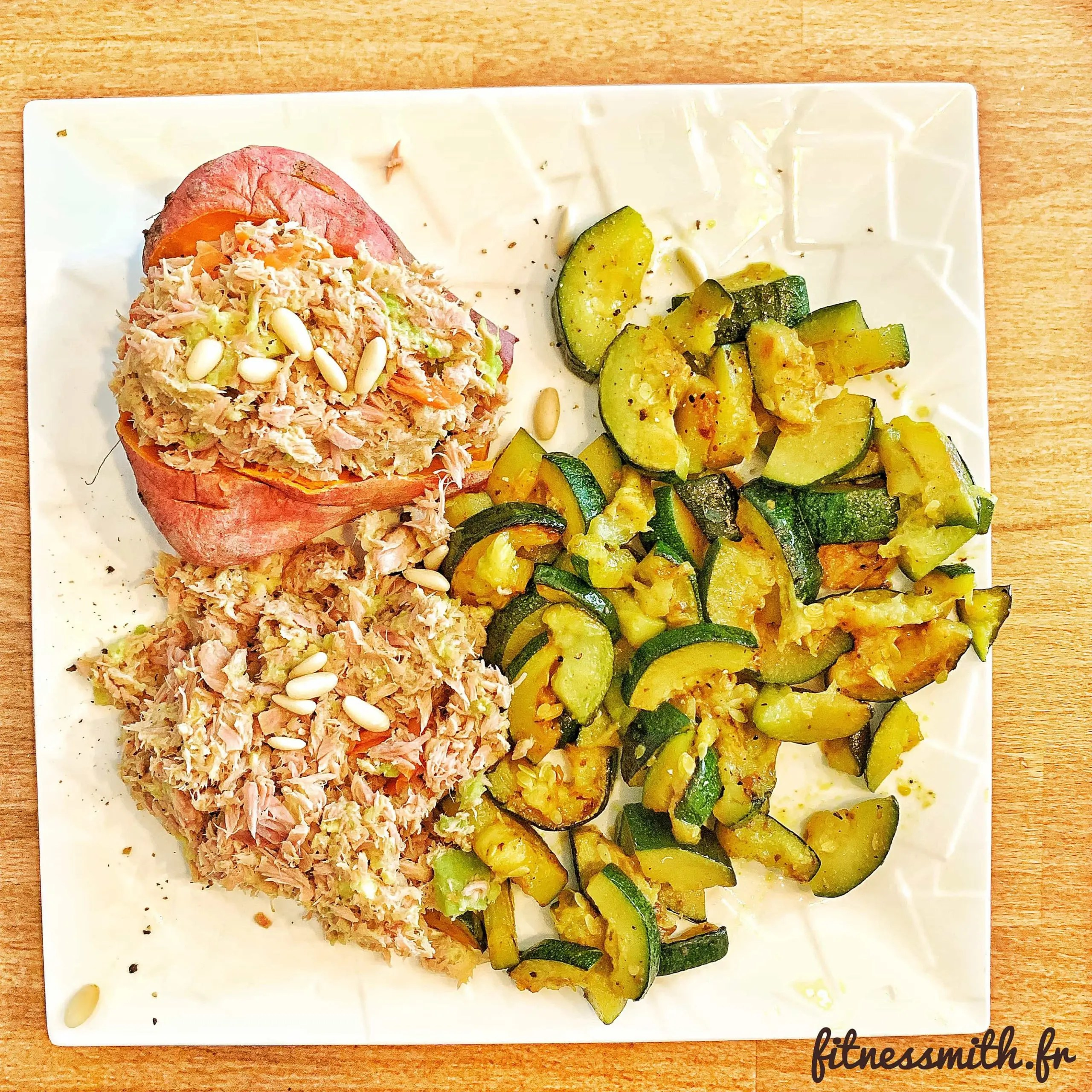 Recette fitness : patate douce farcie