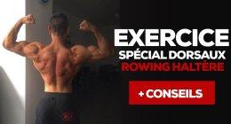 Exercice musculation – rowing haltère – vidéo