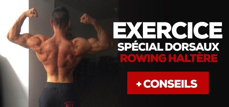 Exercice musculation - rowing haltère - vidéo  474bad937b6