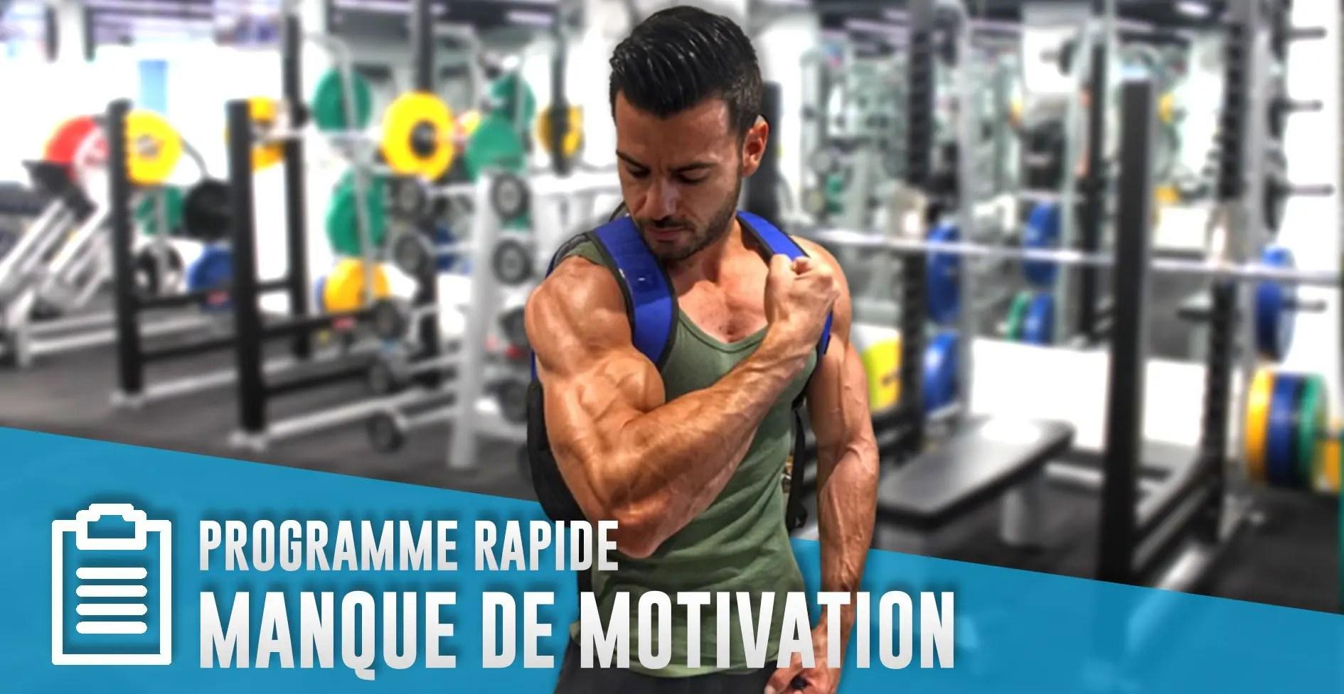 Comment se muscler sans avoir de motivation