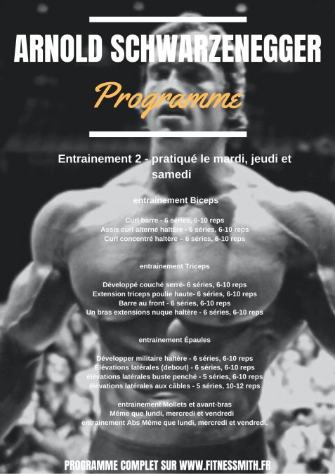 programme Arnold Schwarzenegger 2