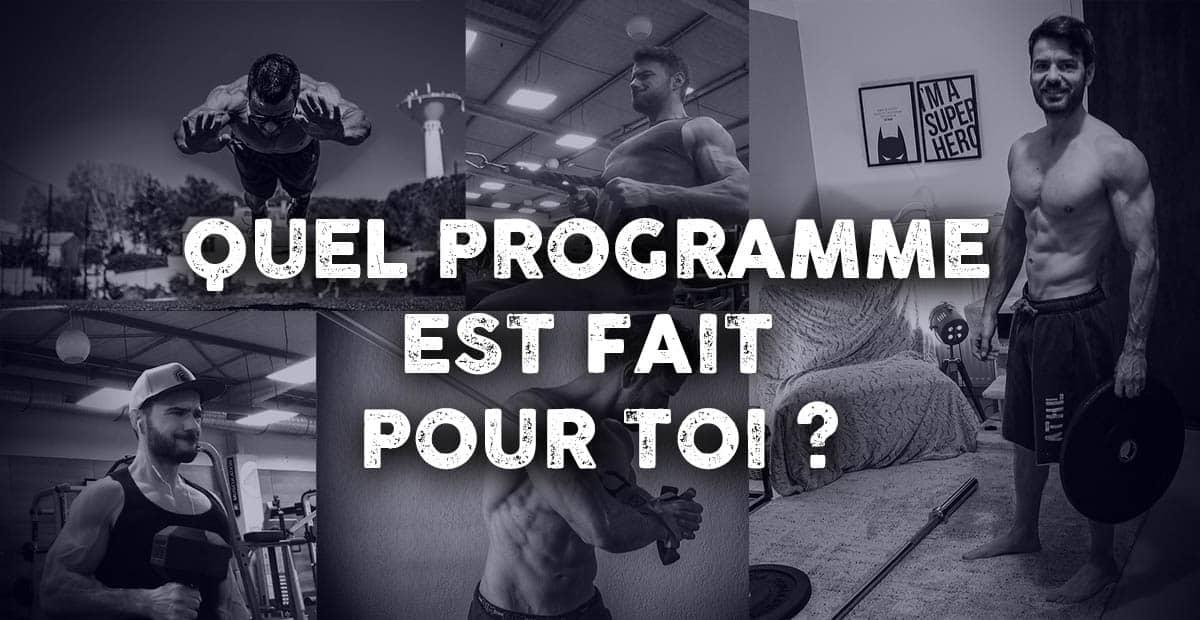 Quel programme de musculation vous convient le mieux ?