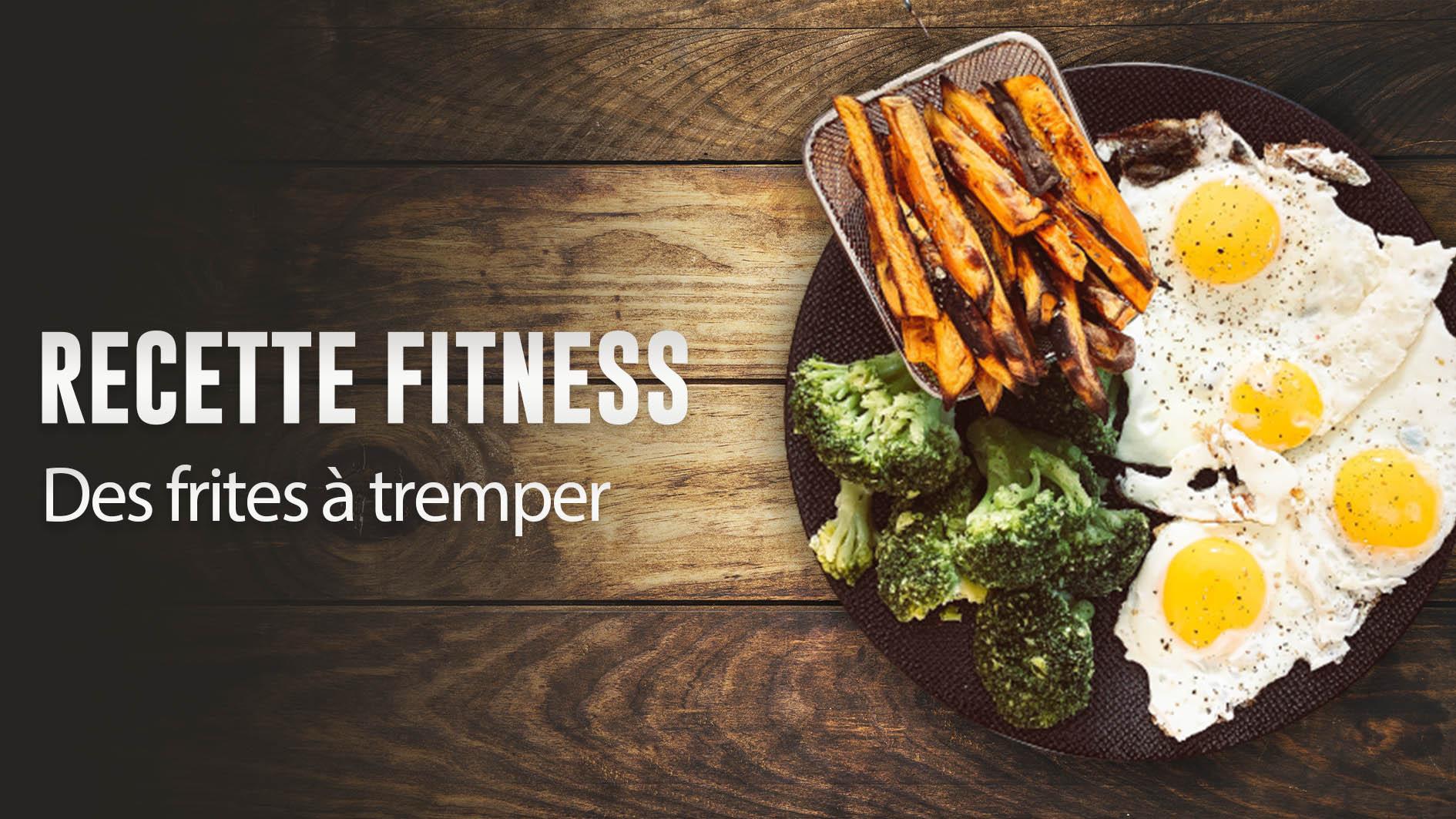 Recette fitness : les frites de patate douce à tremper