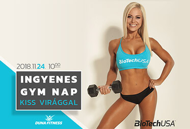 ingyenes gym nap kiss viraggal duna fitness