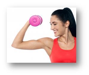 women workout photo