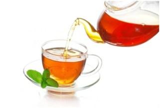 serving green tea