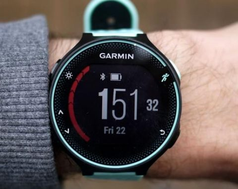 Garmin Forerunner 235 hand 480x380 - The Best GPS Running Watches Reviews 2020 - Top 10 on Market