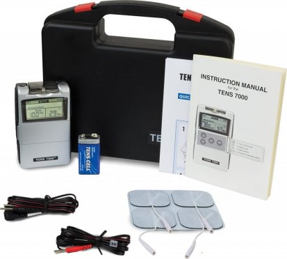 TENS 7000 2nd Edition Digital TENS Unit with accessories 1024x922 - Best Electric Muscle Stimulation Machine Reviews (EMS Vs TENS)
