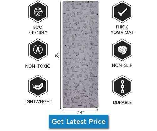 Neumee Premium Natural Rubber Suede Yoga Mat