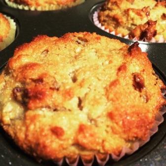 Banana Date Walnut Muffins
