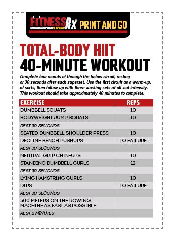 Total-Body HIIT Workout | FitnessRX for Men