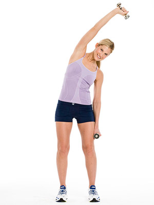 Easy Arm Exercises For Women overhead bend