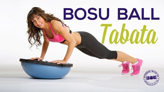 BOSU Ball Tabata Workout - Fitness with PJ Over 40 & Menopause Fitness