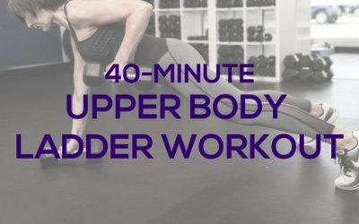 Upper Body Ladder Workout for Women