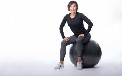 Glutes & Hamstrings with the Ball & Dumbbells for Women Over 40 DAY 8