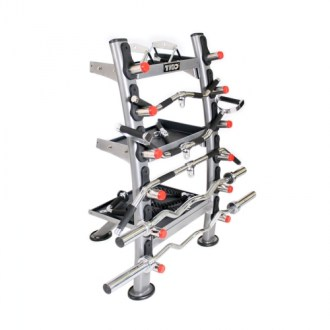 FitnessZone  TKO Plate Trees   TKO Dumbbell Racks TKO Accessory Rack  Silver Metallic