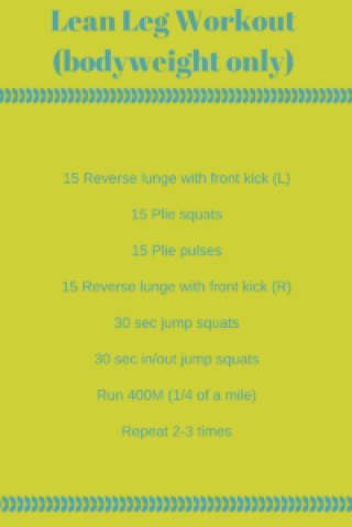 Lean Leg Workout(bodyweight only)