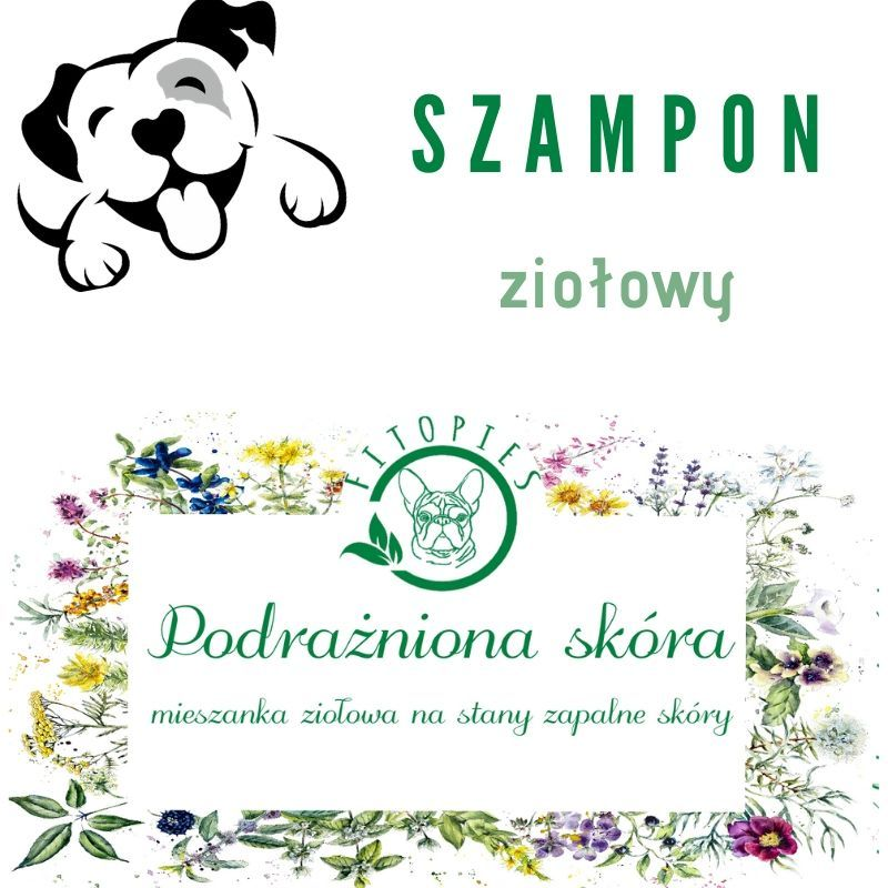 ziołowy szampon dla psa z podrażnioną skórą