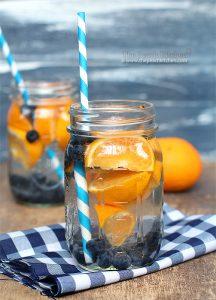 bosbes sinaasappel water