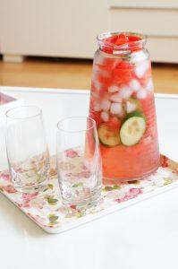 Komkommer watermeloen water