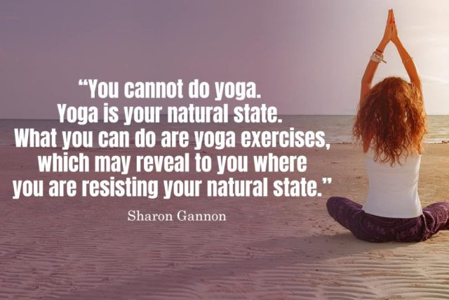 Inspirational Yoga Quote - You cannot do yoga