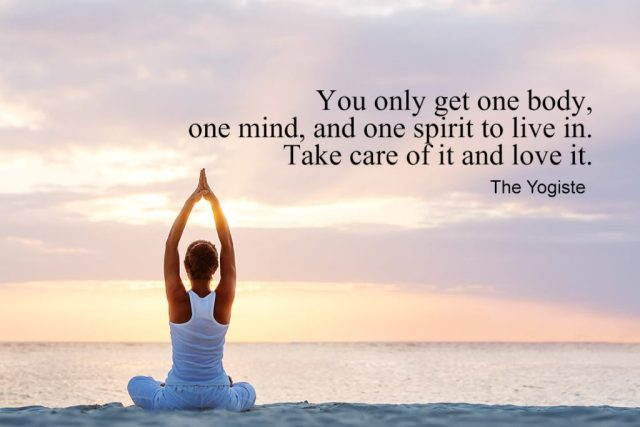 Love Yoga Quote - You only get one body