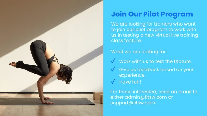 Join our Pilot Program for Live Classes