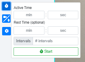 Live Fitness Classes in FitSW: Interval timer