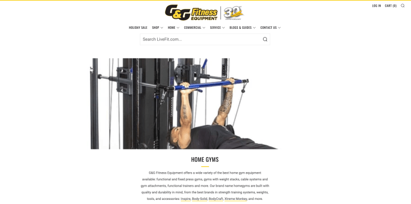 G & G Fitness Equipment - Home Gym Packages
