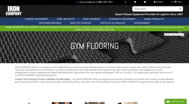 Iron Company - Commercial Gym Flooring
