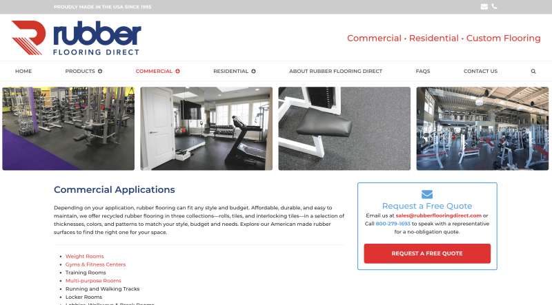 Rubber Flooring Direct - Commercial Gym Flooring