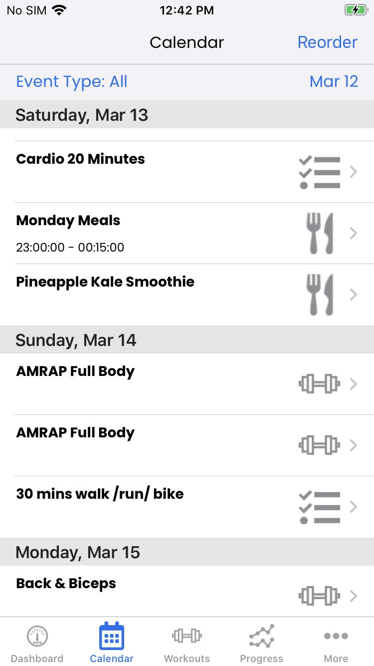 Client Calendar View on iOS