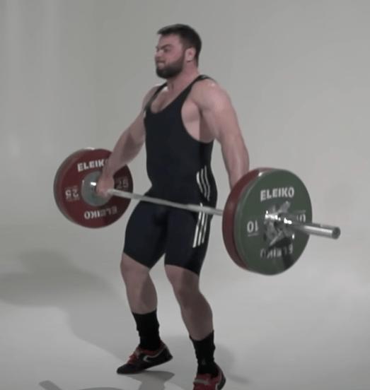 The Snatch Olympic Lift Upward Motion