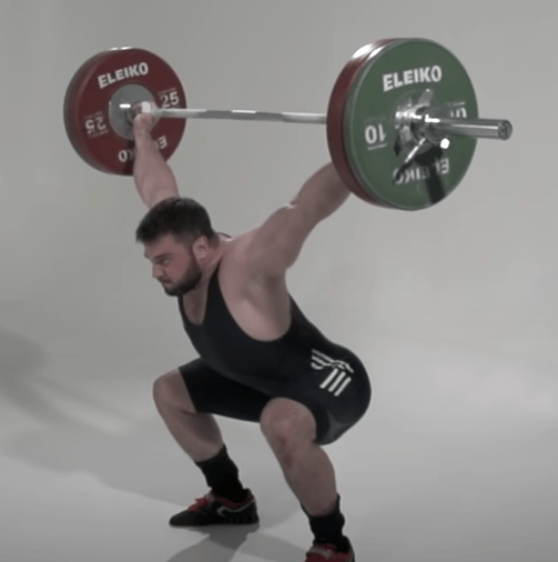 The Snatch Olympic Lift Final Position