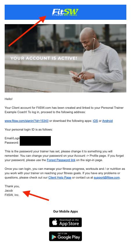 Custom email branding in FitSW
