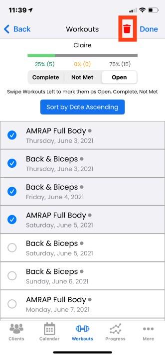 Bulk Delete Assignments on iOS