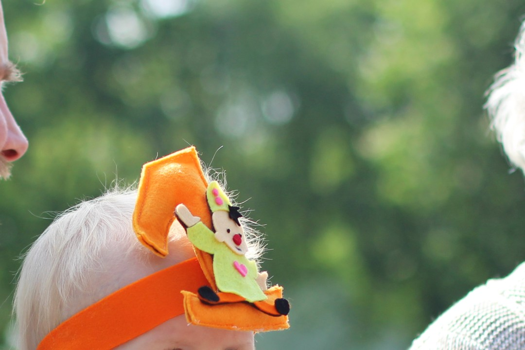 DIY bumba verjaardagsmuts van vilt