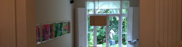 Roller Blinds Fitted to a Straight Window in Ladbroke Grove