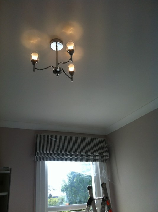 Pelmet board and roman blind fitted in Middlesex