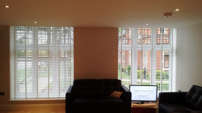 Wood venetian blind fitted in Bushey