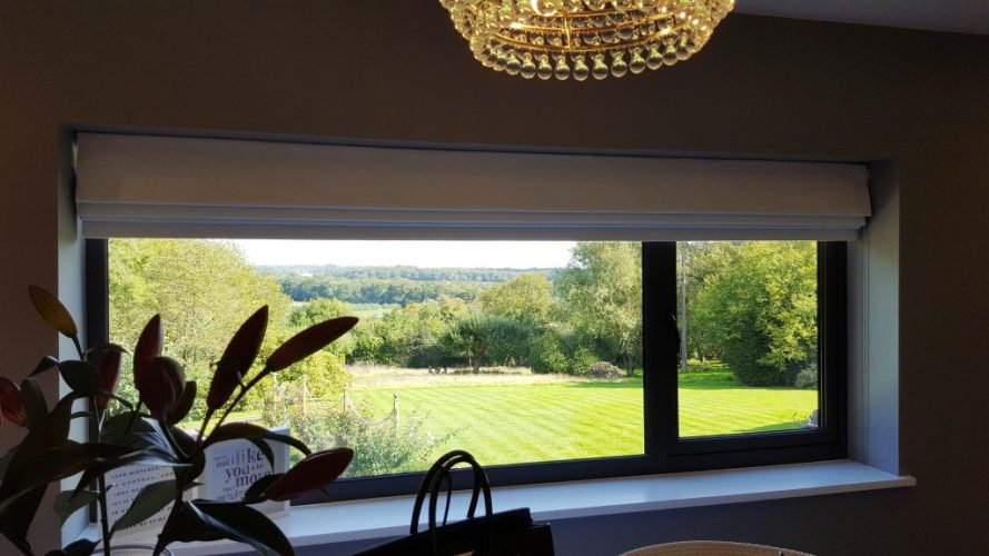 Roman blind fitted in Oxfordshire-1