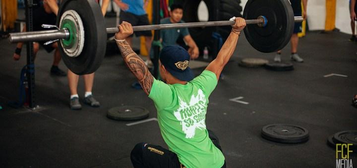 Overhead squat. Photo credit: Foundation CF