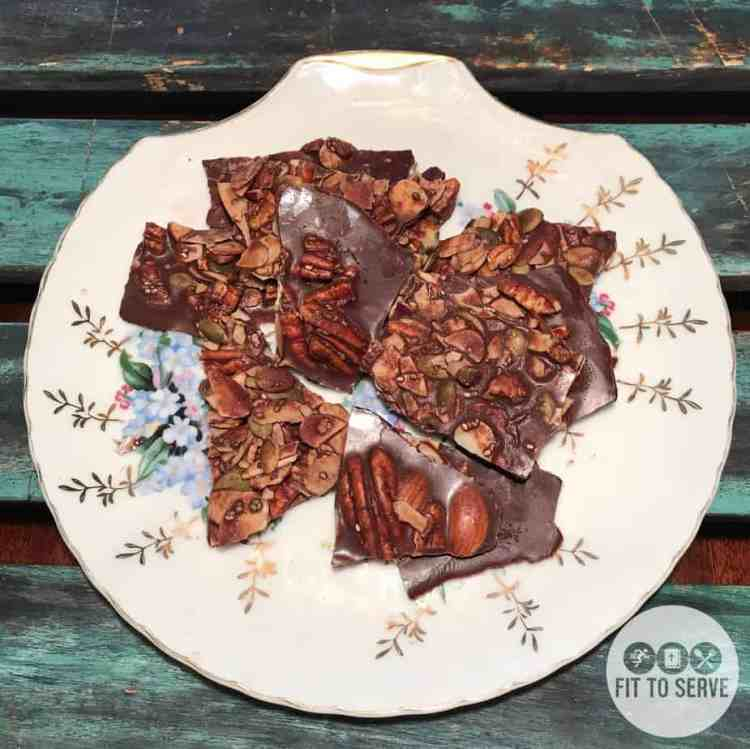 Low Carb LCHF Dairy Free Chocolate Coconut Oil Bark
