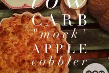 Low Carb Mock Apple Cobble