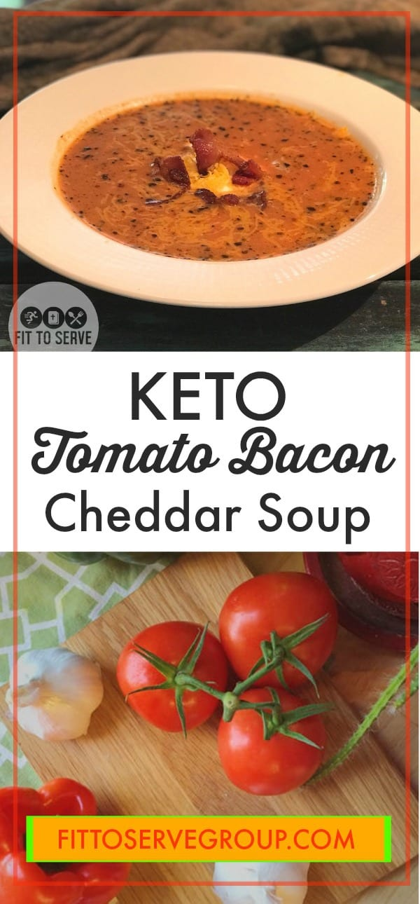 Keto Tomato Bacon Cheddar Soup